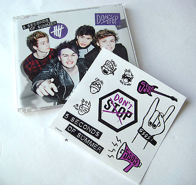 5 Seconds Of Summer - Don't Stop - NEW CD Single + Sticker Set SEALED !!