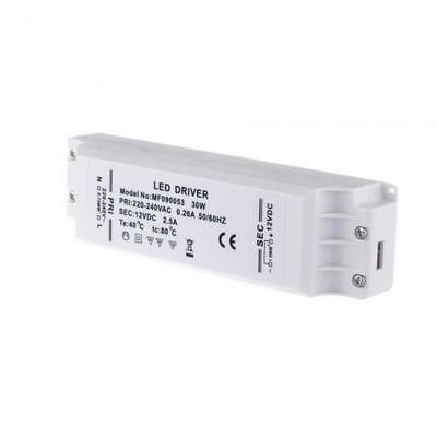 LED Driver 30W Waterproof Power Supply Transformer AC 220-240V to DC 12V