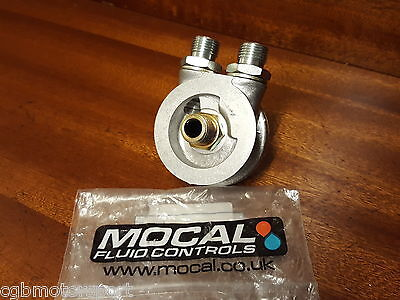 "New Mocal Oil Cooler Sandwich Plate Renault 5 Clio Megane M20 1/2"" Bsp Fittings"
