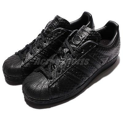 adidas Originals Superstar W Black Snakeskin Leather Womens Casual Shoes S76147