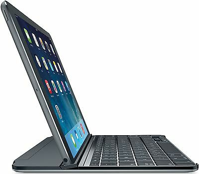 Logitech Space Grey Spanish QWERTY Ultrathin Keyboard Cover for iPad Air
