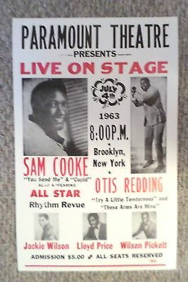 Sam Cooke, Otis Redding and more All Star Rhythm Review Poster Print