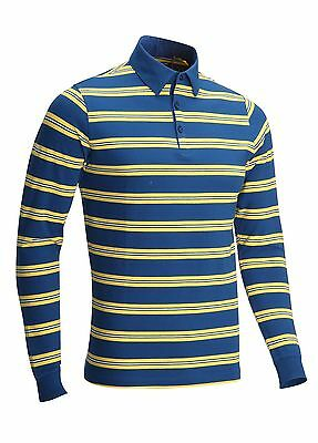 Callaway Golf Flux L/S Polo Shirt Limoges Blue Medium