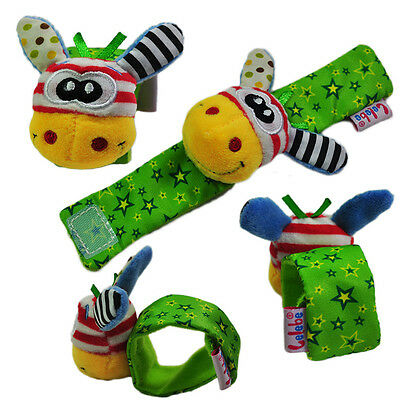 Animal Baby Infant Soft Hand Wrist Band Foot Socks Rattles Developmental Toy