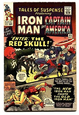 TALES OF SUSPENSE #66 comic book 1965-1ST S.A. RED SKULL-KEY ISSUE