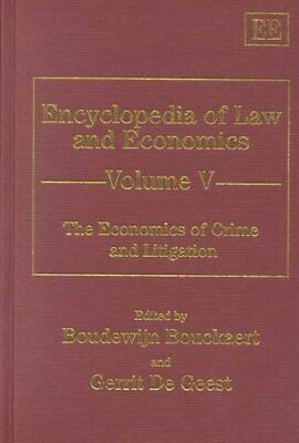 Encyclopedia of Law and Economics: The Economics of Crime and L... 9781858989884