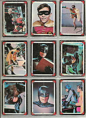 Batman 1966 Movie Red Border Trading Card Set/#1-38/Robin/Cat Woman/Penguin
