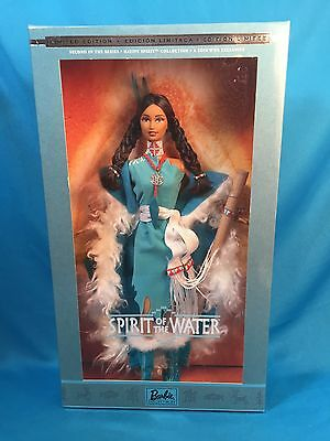NRFB 2002 BARBIE SPIRIT OF THE WATER Native American Doll TRU Exclusive