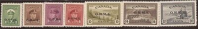 Canada - 1949-50 Official Stamps - F/VF MH - Scott #O1-4, 6-8