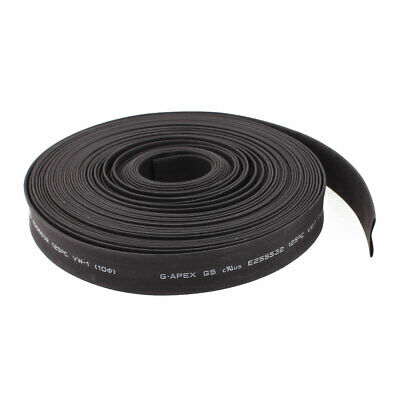 32.8ft x 10mm Diameter 2:1 Shrinkage Ratio PE Insulated Heat Shrink Tubing Black