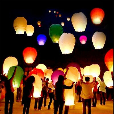 Mix Paper Chinese Lanterns Sky Fly Candle Lamp for Wish Party Wedding 20PX