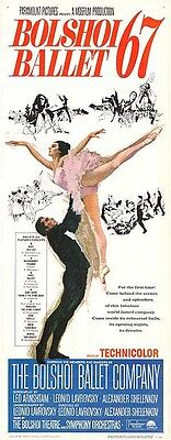 BOLSHOI BALLET 67 original movie poster HOWARD TURPNING artwork 14x36 insert