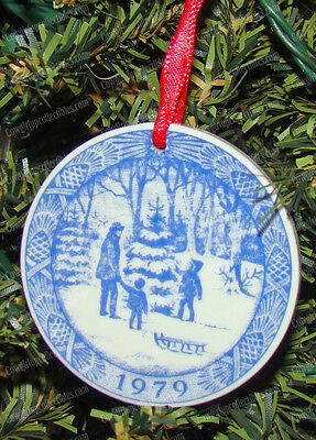Royal Copenhagen, O' Christmas Tree (1979) Porcelain Holiday Ornament