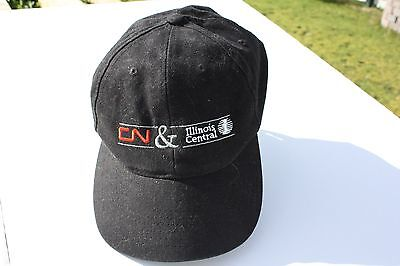 Ball Cap Hat - CN Illinois Central - Canadian National Railway Railroad  (H1441)