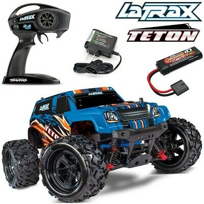 NEW Traxxas LaTrax Teton 1/18 4WD RTR RC Monster Truck BLUE w/BATTERY & CHARGER