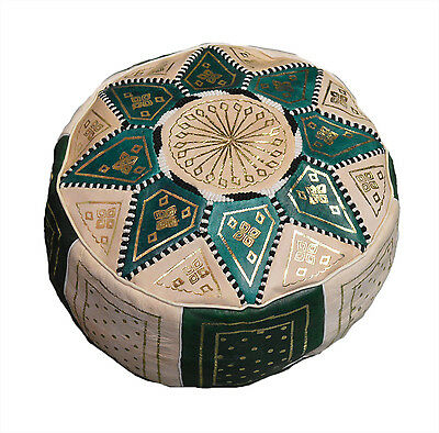 Moroccan leather Pouf Pooff Pouff Ottoman Footstool Hossack Pouffe Hassack New
