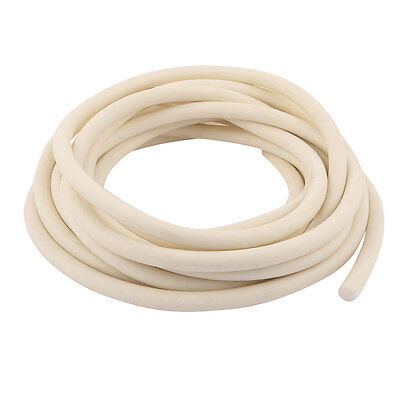 5m x 10mm White Flexible Round Solid Silicone Rubber Foam Sealing Strip