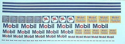 Mobil  Gas Station Decal Set