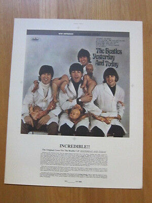 BEATLES Butcher cover poster limited edition