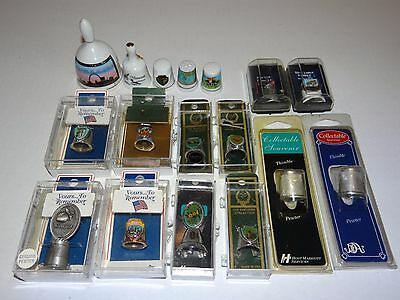 Lot of Assorted THIMBLES & BELLS Travel Themed Collectible Souvenir Items USA