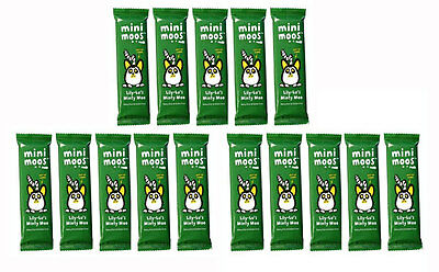 Moo Free Mini Moo Minty Moo Organic Chocolate Bars Pack of 15 Dairy, Gluten Free