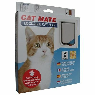 PET MATE Chatiere verrouillable 304W - Blanc - Pour chat - Petmate  NEUF