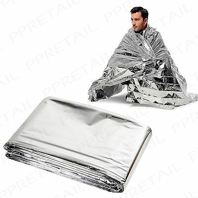 BULK 10x EMERGENCY THERMAL FOIL BLANKETS Accident/Hypothermia First Aid Survival