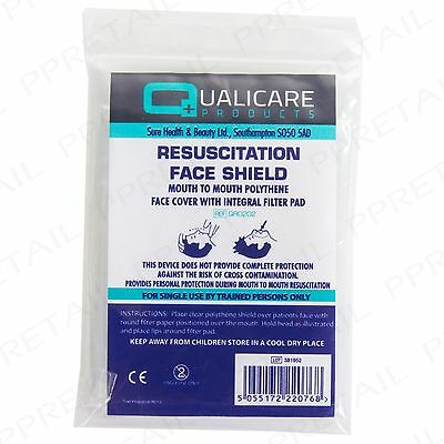 CPR RESUSCITATION FACE MASK FILTER SHIELD Mouth to Mouth First Aid Screen Refill