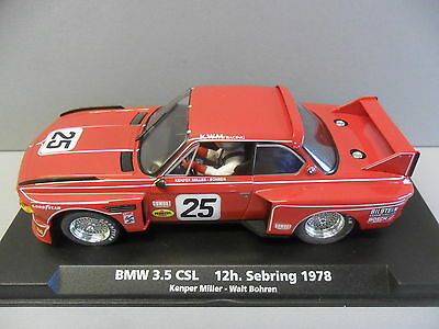 Fly A688/88161 Bmw 3.5 Csl Sebring 1978 1/32 Slot Car Scalextric Compatable