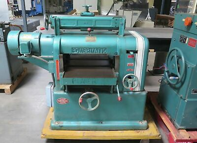 "Powermatic 18"" Wood Planer 3 Hp Model 180 Nice Made in USA"