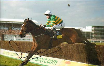12x8 HAND SIGNED PHOTO A.P.McCOY AINTREE GRAND NATIONAL MEETING