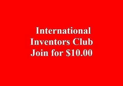International INVENTORS CLUB Join for $10.00
