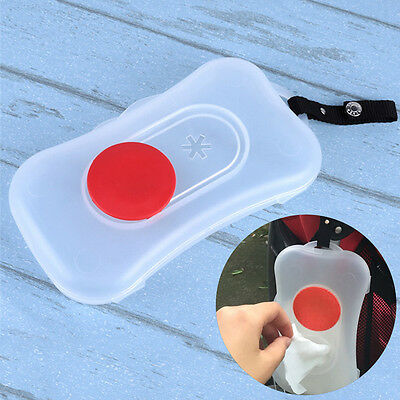 Travel Outdoor Baby Pushchair Plastic Wet Wipes Carriage Pram Clear Wipes Box