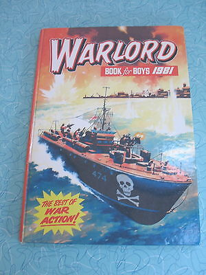 D C Thomson     Warlord Book For Boys 1981