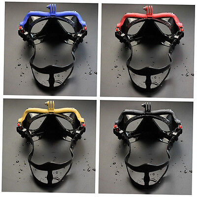 Underwater Camera Plain Diving Mask Scuba Snorkel Swimming Goggles for GoPro BH