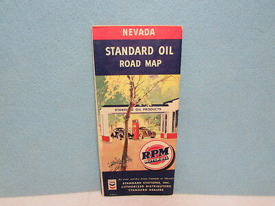 Vintage 1941 Standard Oil Nevada Reno State & US Road Map