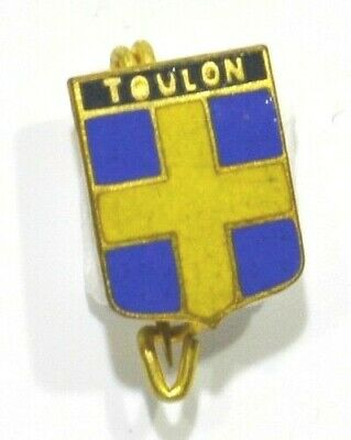 Broche (No Pins) Blason Ancien Toulon 83 Var 1 Cm