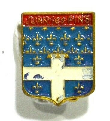 Broche (No Pins) Blason Ancien Juan Les Pins 06 Alpes Maritimes 1.5 Cm