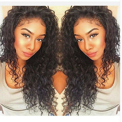 6A Brazilian Human Hair Full Lace Wig Deep Curly Lace Front Wig With Baby Hair
