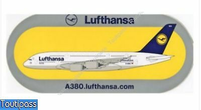 LUFTHANSA avion aviation A 380 Airbus sticker 23x10 cm