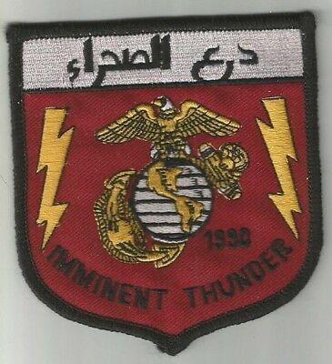 ARMEE avion aviation Imminent Thunder Irak Koweit écusson / patch 9.5X10 cm