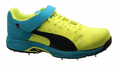 Puma EvoSpeed Cricket Bowling Shoes Removable Spikes Lace Trainers 103645 01 D6