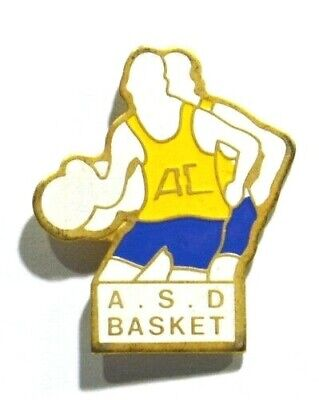 Pins Basket Ball Asb Ac ? ( Jaune/bleu)