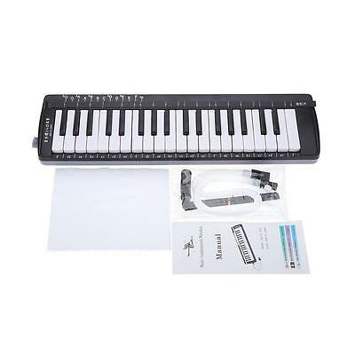 Swan 37 Keys Music-Fundamentals Melodica 3 Octaves Black with Carrying Bag B2A1
