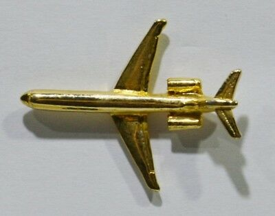 Pins Avion Aviation Metal Dore 2.7X2 Cm Relief