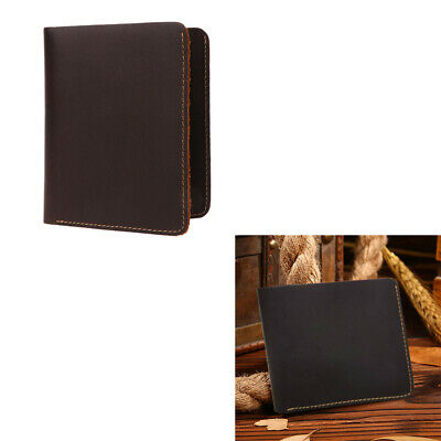 Vintage Men Crazy Horse Leather Bifold Wallet Genuine Leather Wallet Card Holder