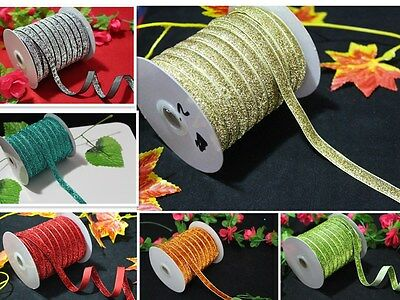5/10/50yd Velvet Ribbon Bling Trim Cord Craft Making Headband Wedding Decoration