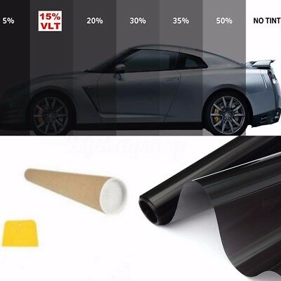 5 Sizes Window Tint Film Black 5% 15% 20% 30% 35% 50% VLT Roll Car Auto House ZJ