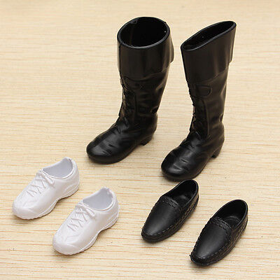 3 Pairs Dolls Cusp Shoes Sneakers Knee High Boots For Barbie Boyfriend Ken New