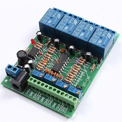 Stylish Voltage DC 5V/12V/24V 4 Channel Comparator Precise LM393 Module